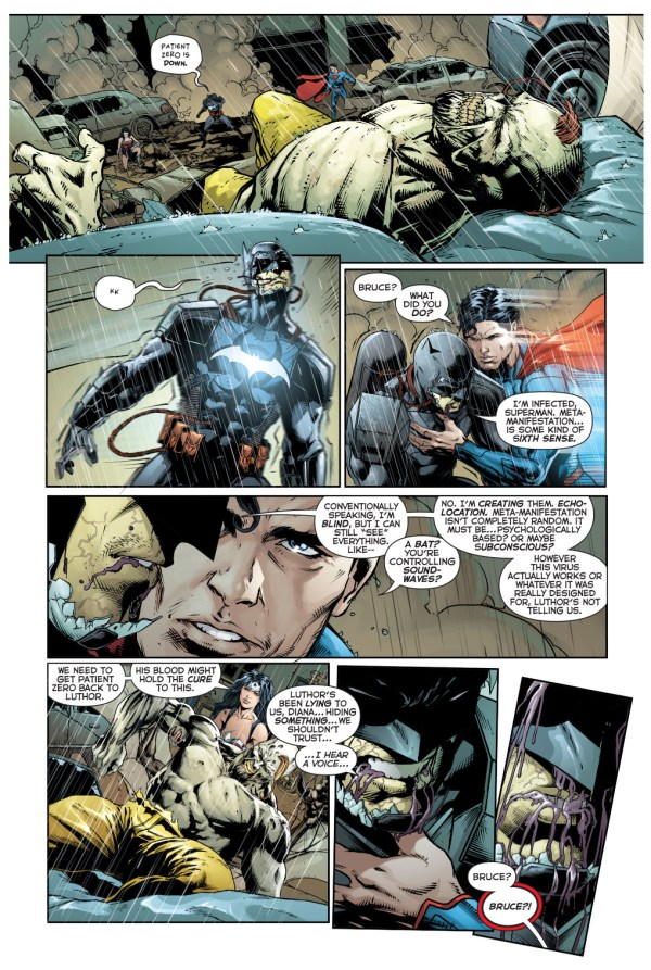 batman is infected with the amazo virus