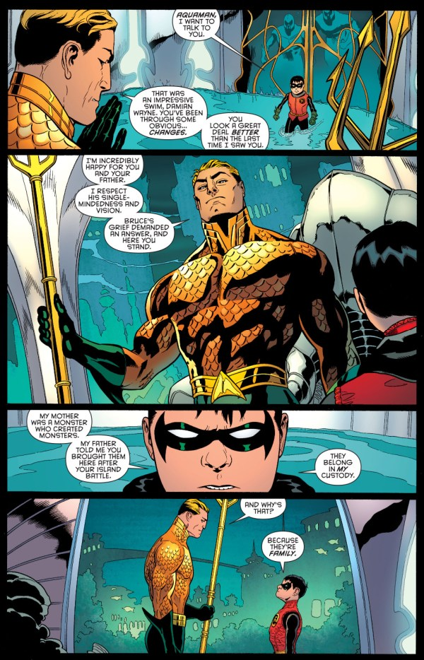 what robin asked from aquaman