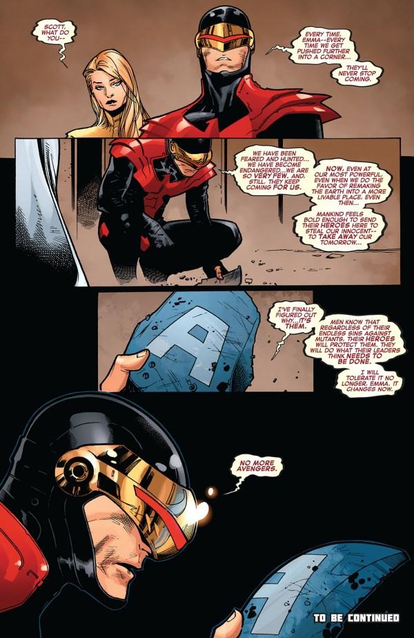 cyclops declares no more avengers