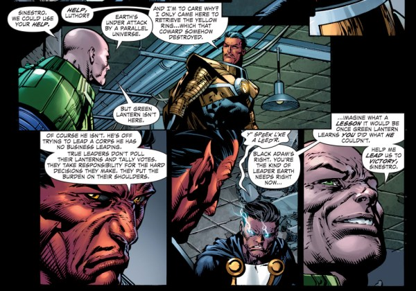 how lex luthor recruited sinestro