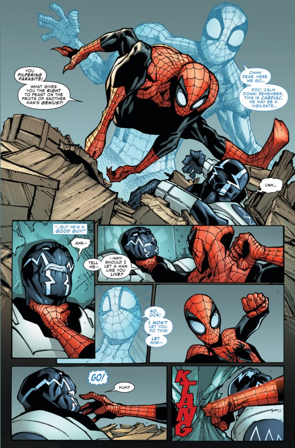 superior spider-man vs cardiac