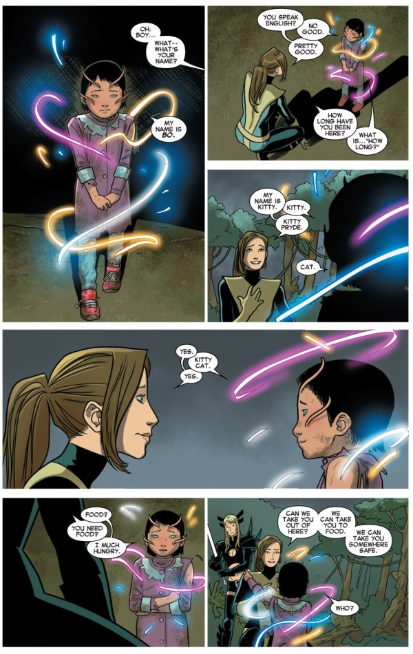 kitty pryde and magik rescue a little mutant girl