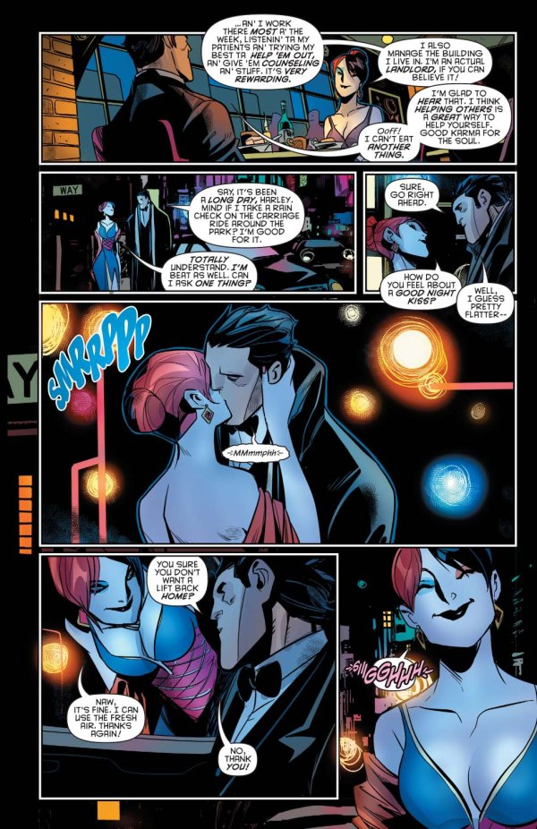 bruce wayne goes on a date with harley quinn