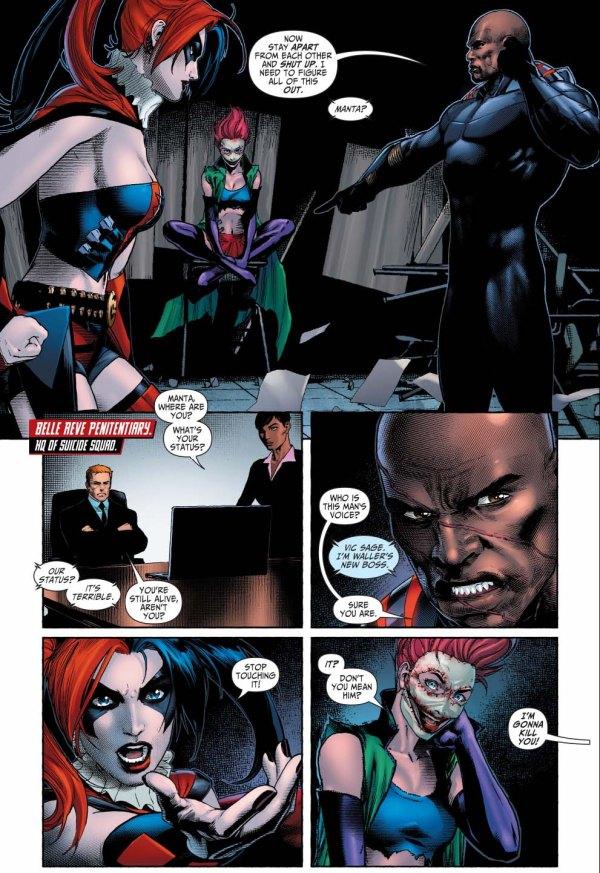 the joker's daughter taunts harley quinn