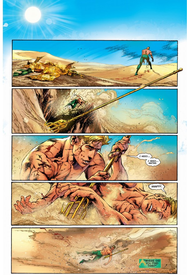 aquaman is stuck in a desert