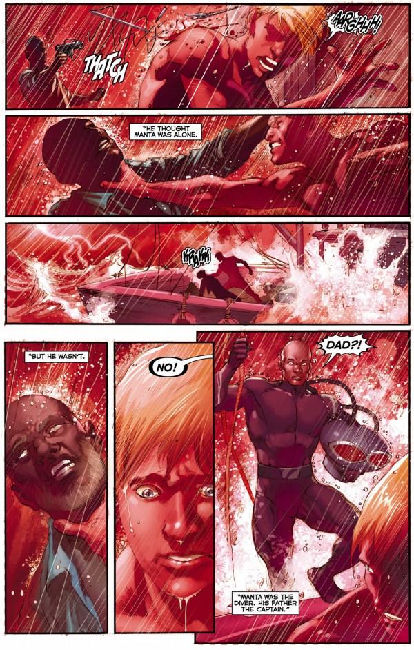 aquaman kills black manta's father