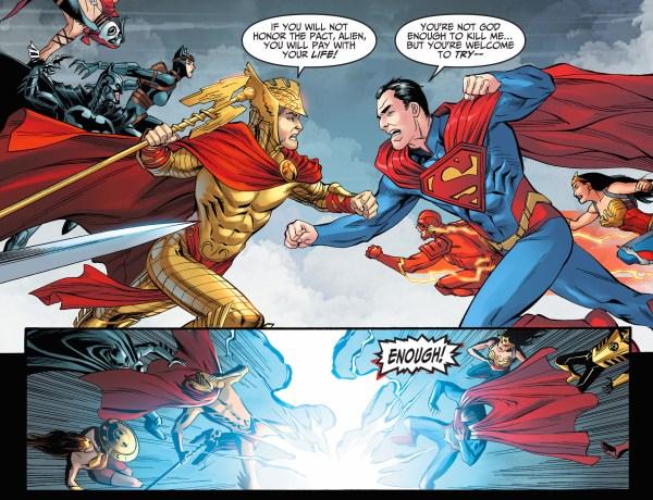 superman attacks hermes