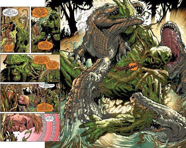 aquaman and ya'wara vs swamp thing