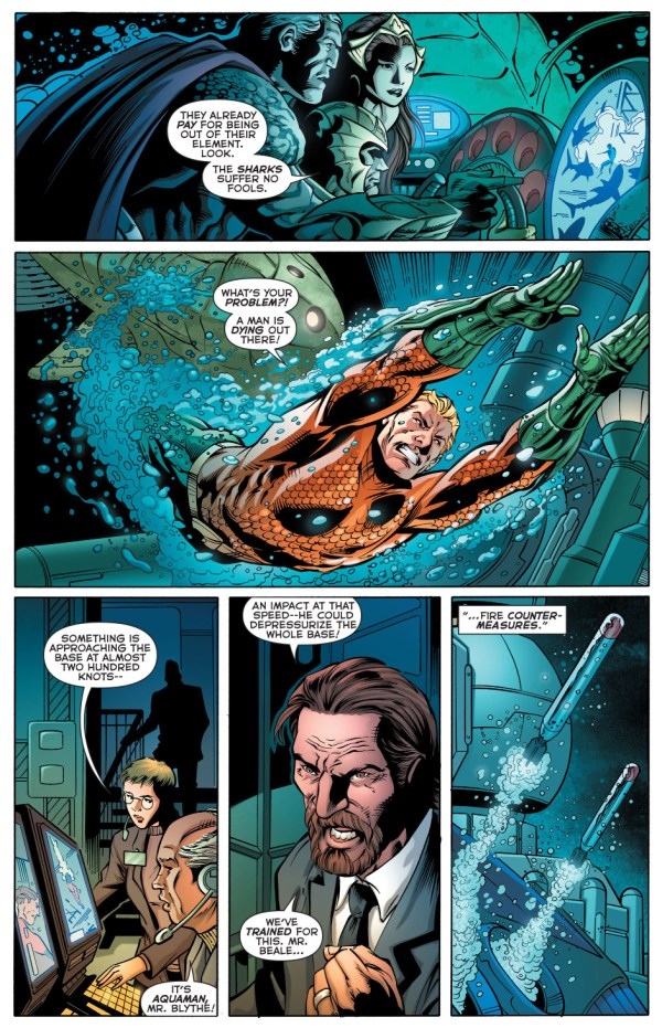 aquaman stops a shark attack