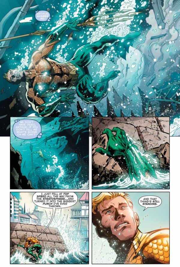 aquaman's stratosphere punch