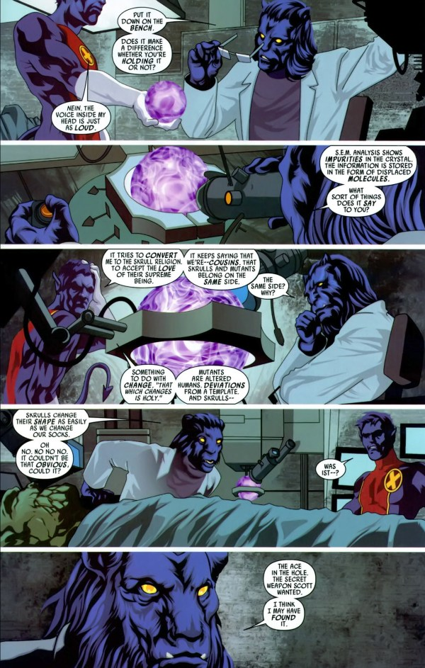 beast discovers a weapon against skrulls