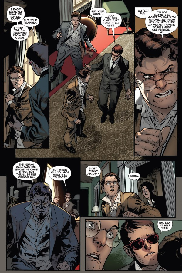 beast travels in time to recruit the original x-men