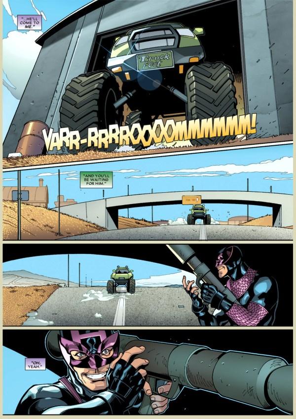 dark avenger hawkeye knows how deadpool thinks