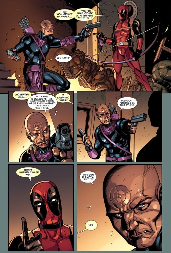 deadpool vs dark avenger hawkeye