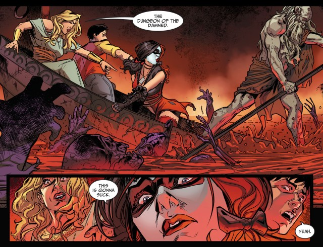harley quinn and billy batson in hell