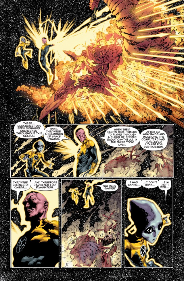 sinestro corps vs A.I space pirates