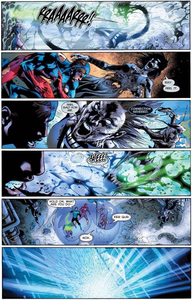 Indigo-1 and Indigo-2 vs black lantern justice league