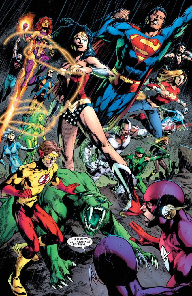 justice league of america and teen titans (blackest night)