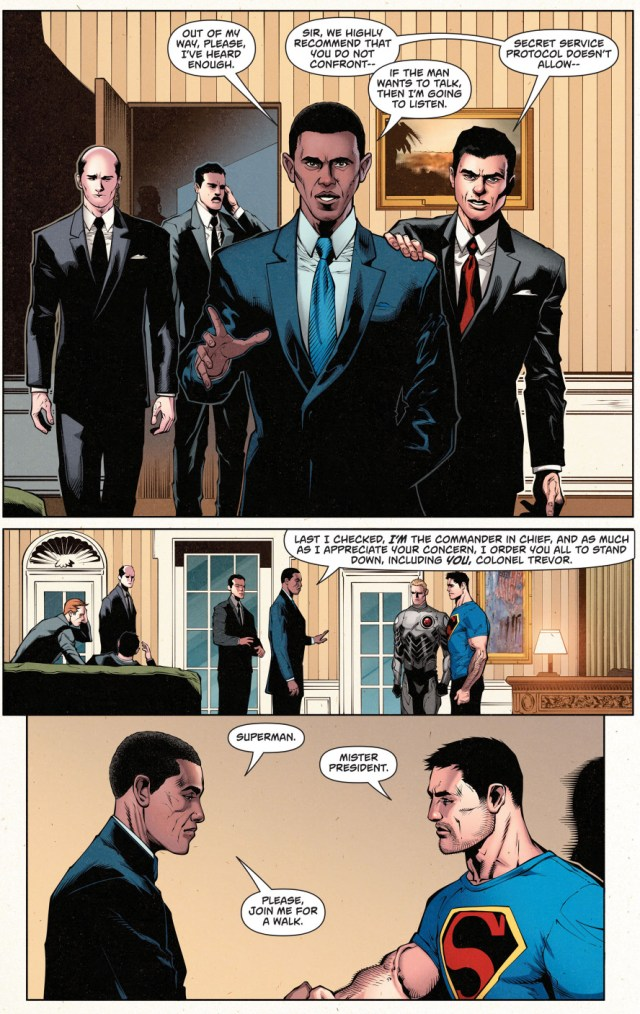 superman meets president obama
