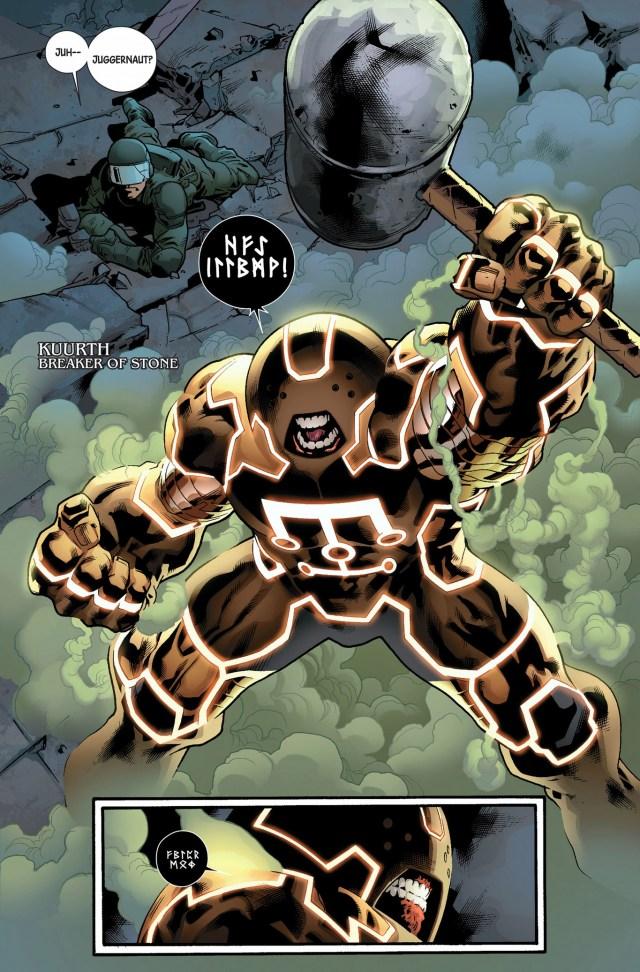 the juggernaut becames kuurth, breaker of stone