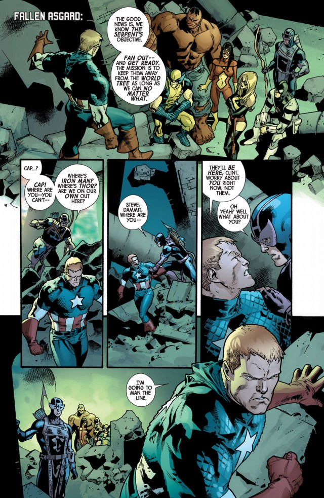 captain america's militia against the serpent