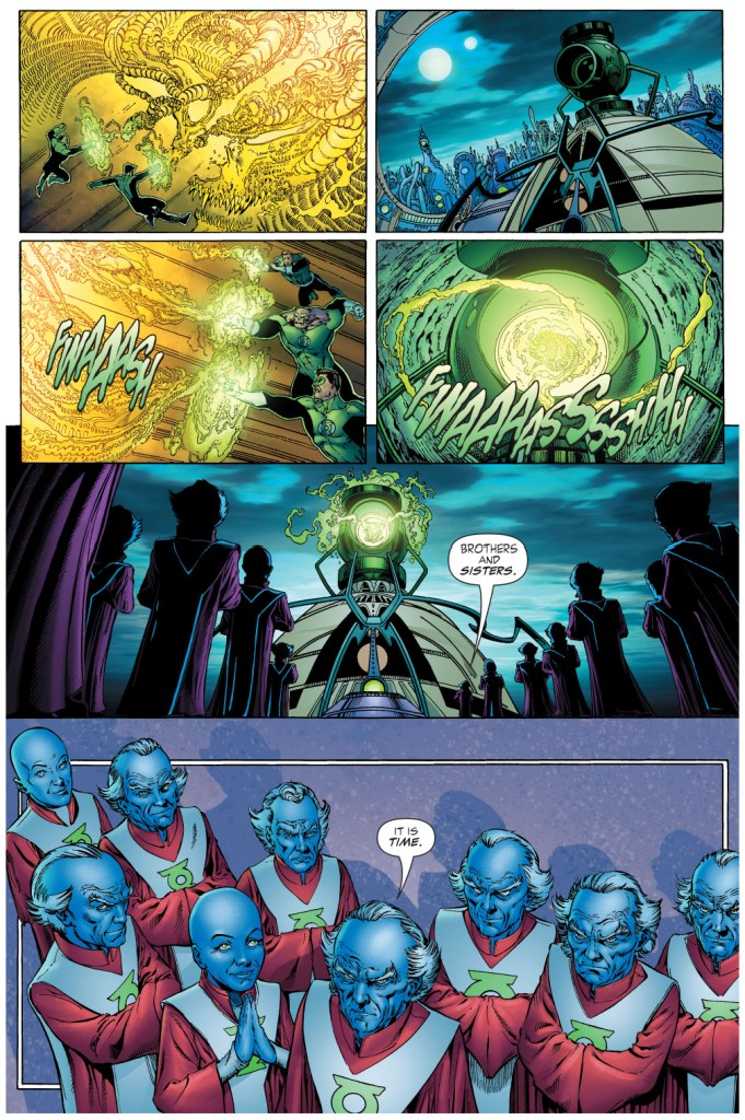 green lanterns vs ganthet-parallax