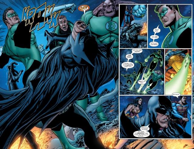 hal jordan punches batman