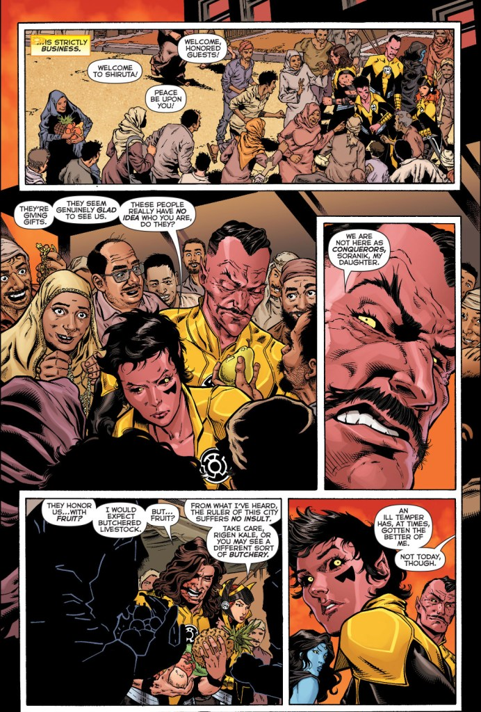 sinestro and his corps visits kahndaq
