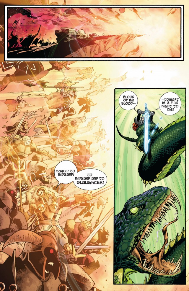 thor vs the serpent