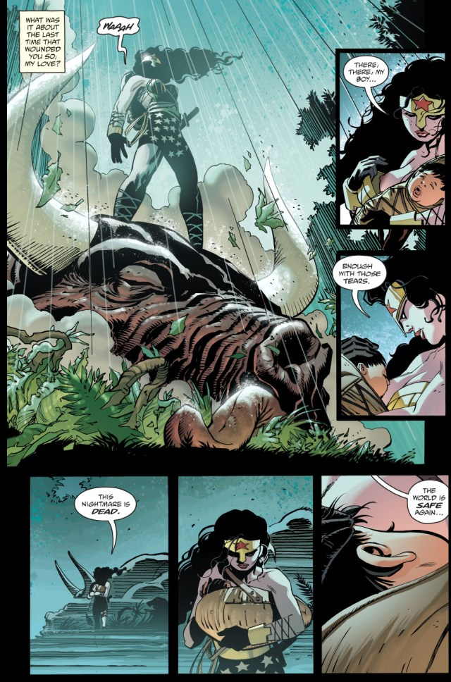 wonder woman vs minotaur (the master race)