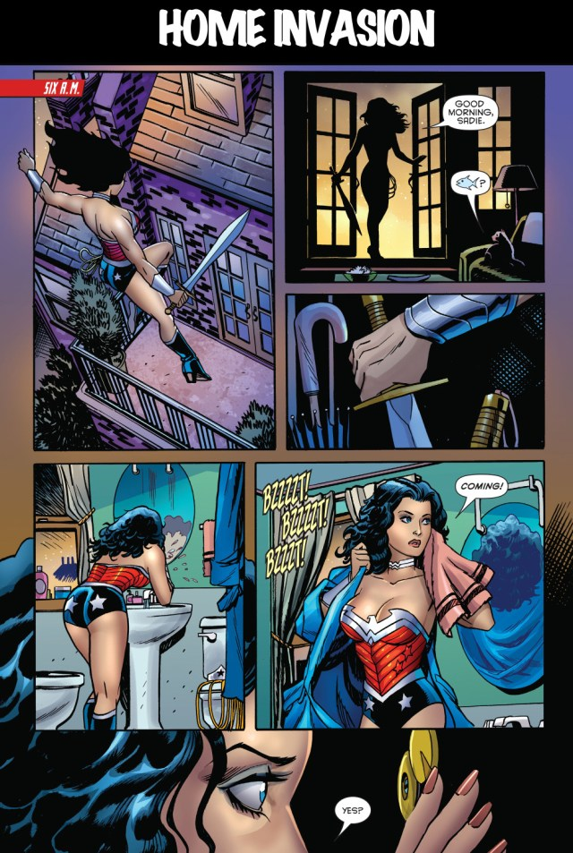 harley quinn wearing wonder woman's costume