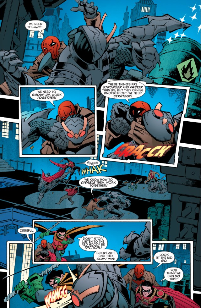 red hood, red robin and robin vs talons