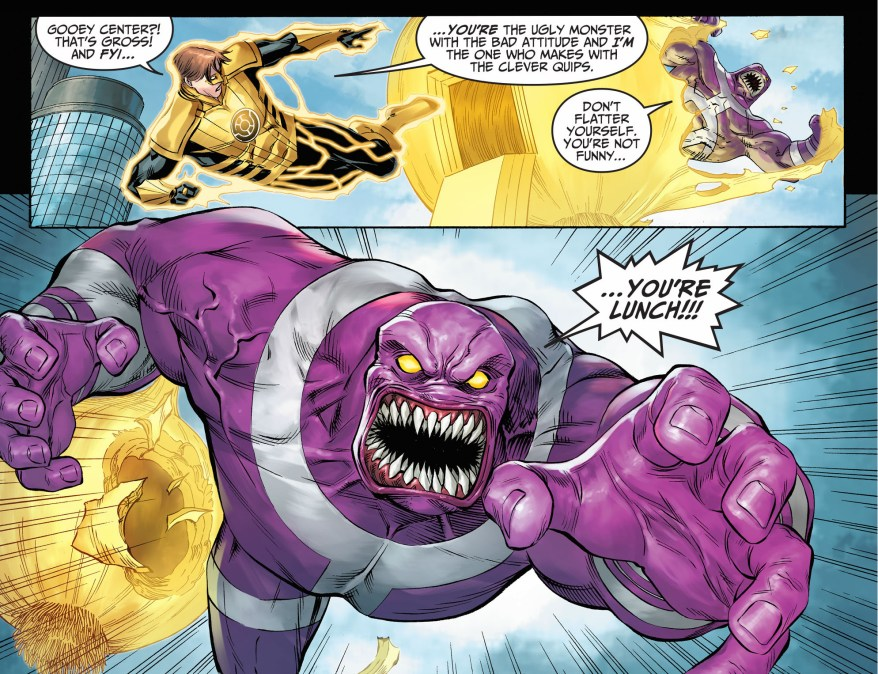 yellow lantern hal jordan vs parasite (injustice gods among us)