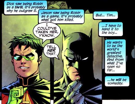 batman's assessment of tim drake's detective skills