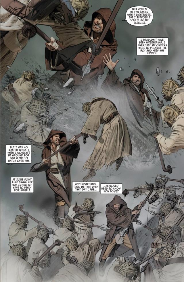 obi wan kenobi vs tusken raiders