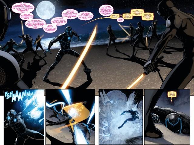 samruai iron man vs cyber ninjas