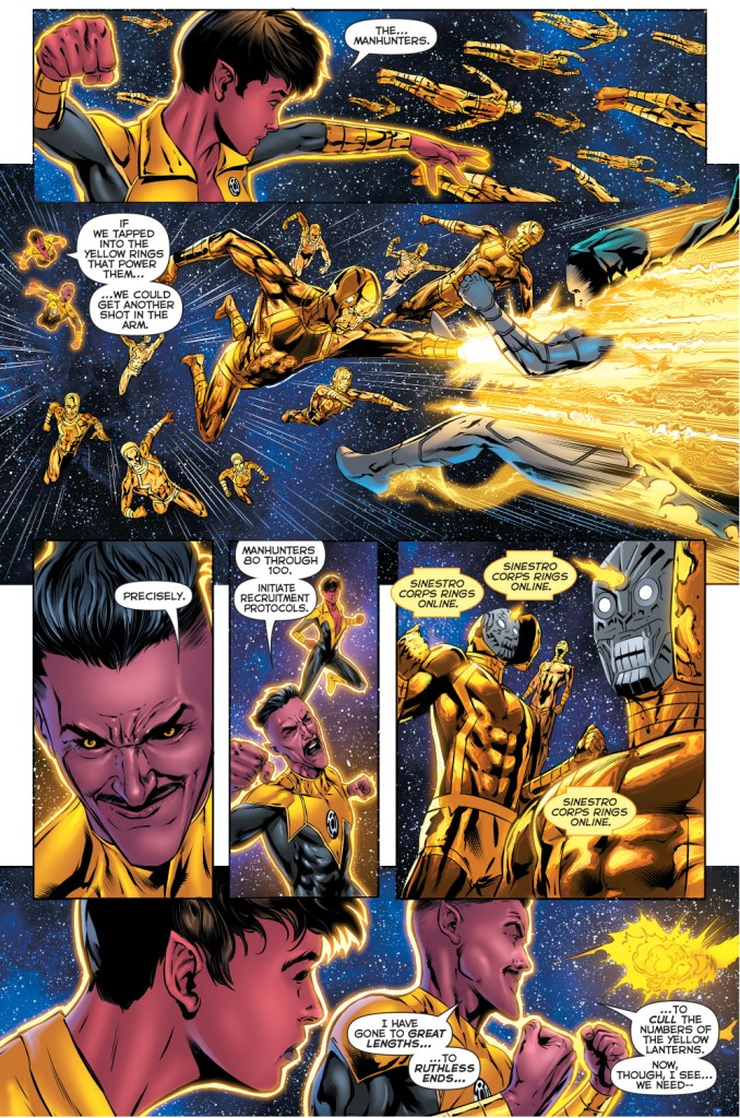 sinestro's mass recruitment for the sinestro corps