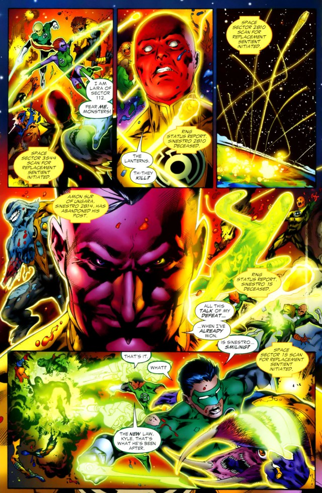 sinestro's real wish for the green lantern corps