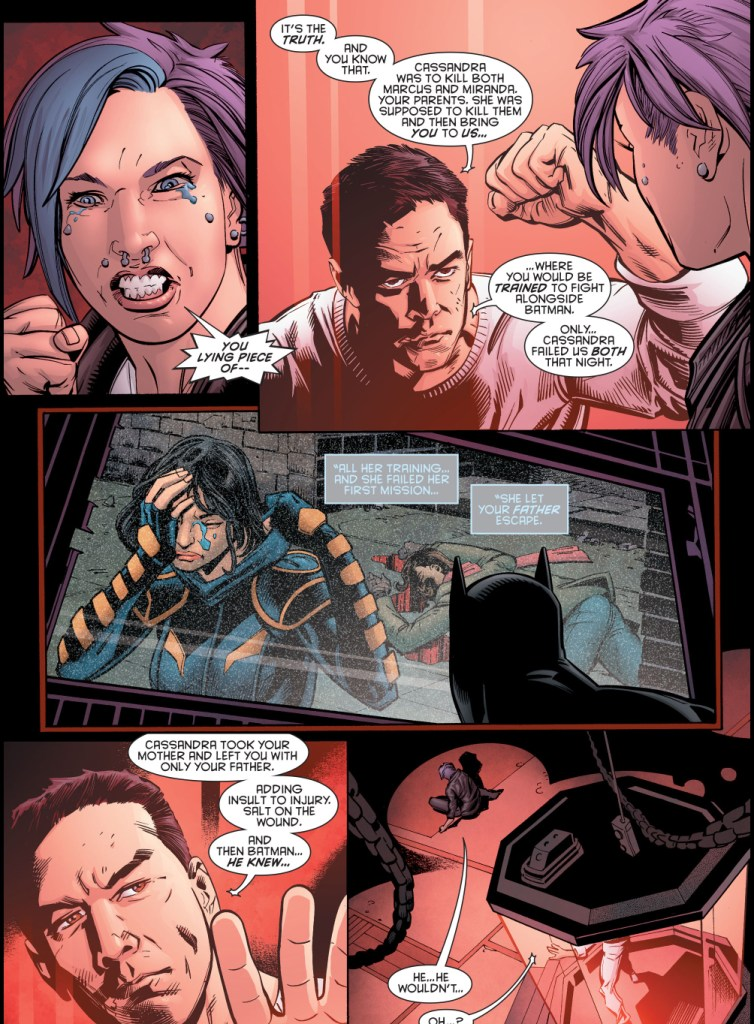 cassandra cain killed harper row's mother