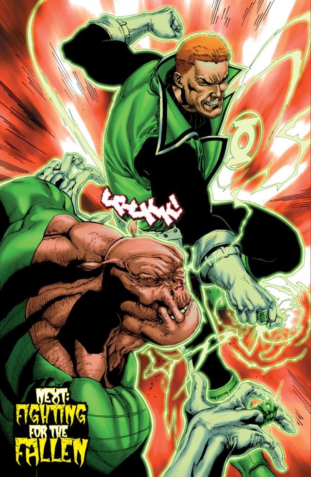 green lantern guy gardner punches kilowog