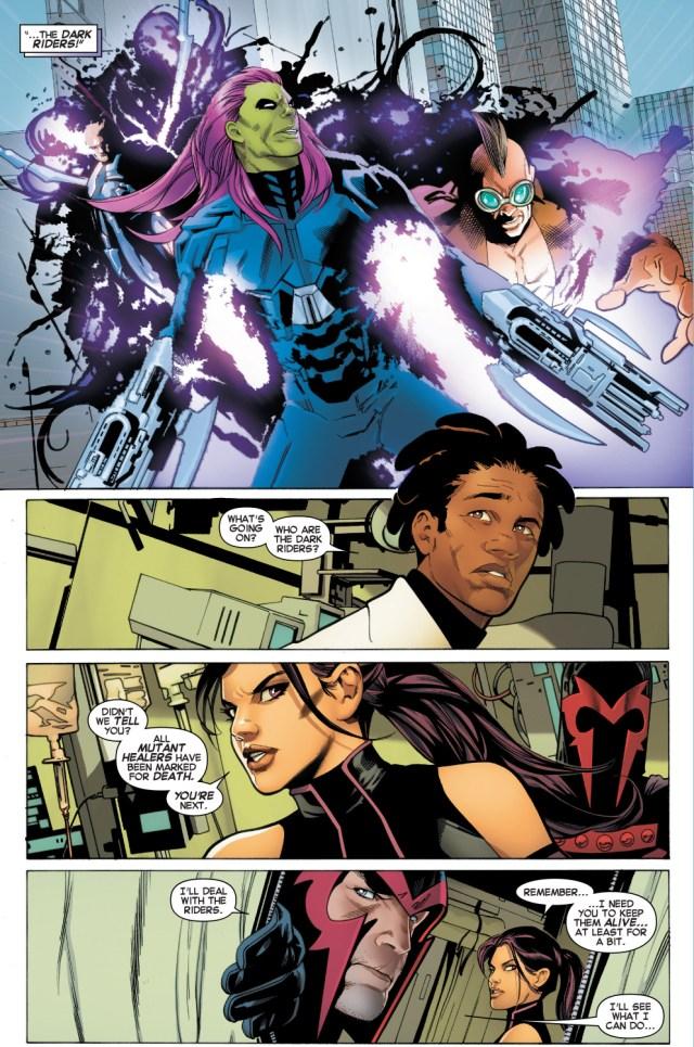 magneto vs the dark riders