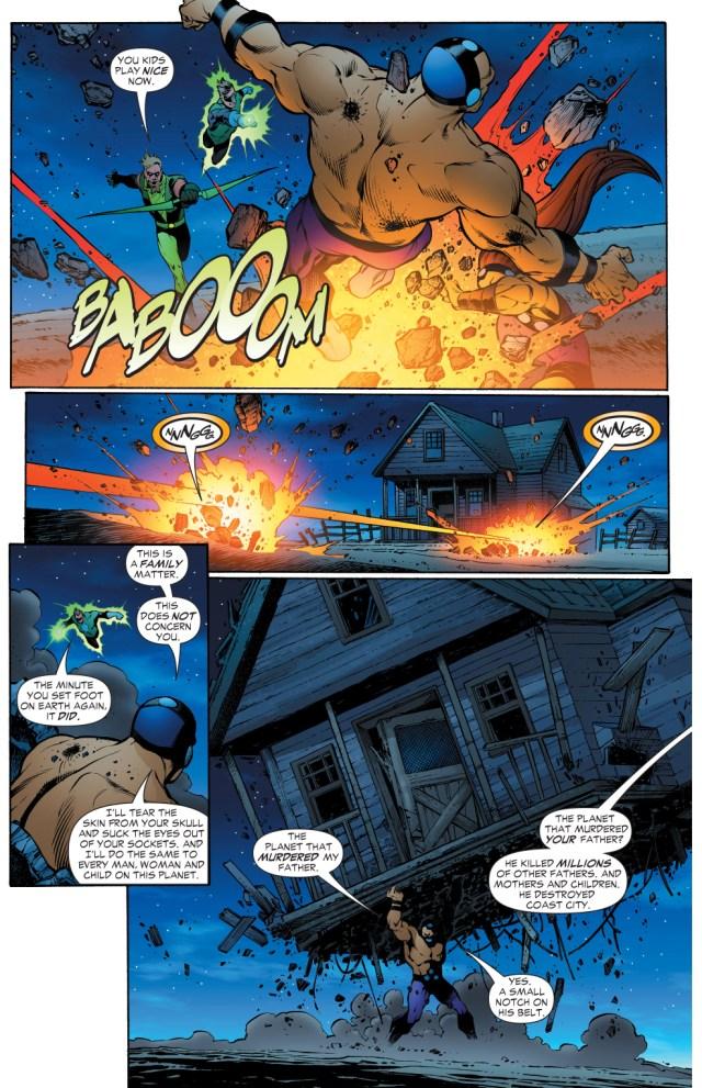 green arrow and green lantern vs mongul and mongal