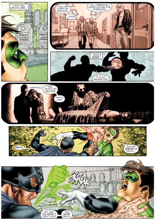 green lantern hal jordan vs black hand (green lantern vol. 4 #6)