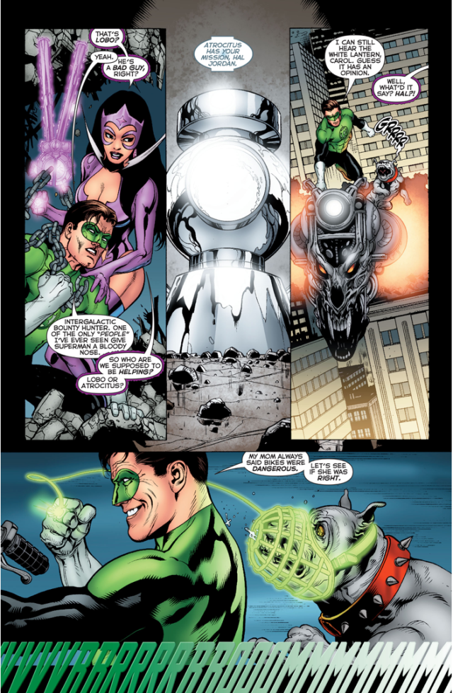Green Lantern Hal Jordan VS Lobo (Brightest Day)
