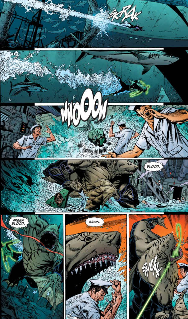 green lantern vs the shark