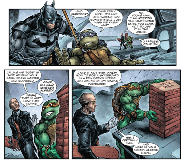 Michelangelo Bonds With Alfred Pennyworth