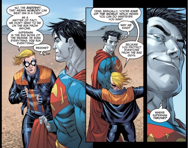 the trickster convinces bizzaro he's superman