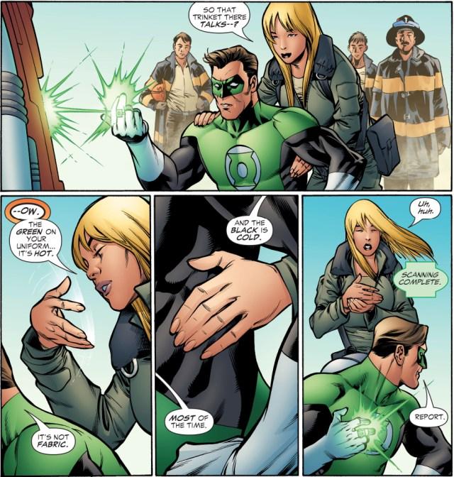 what green lantern's costume feels like