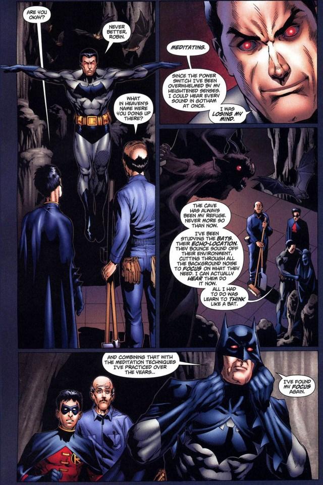 batman meditates like a bat