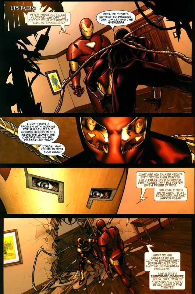 iron spidey vs iron man (civil war)